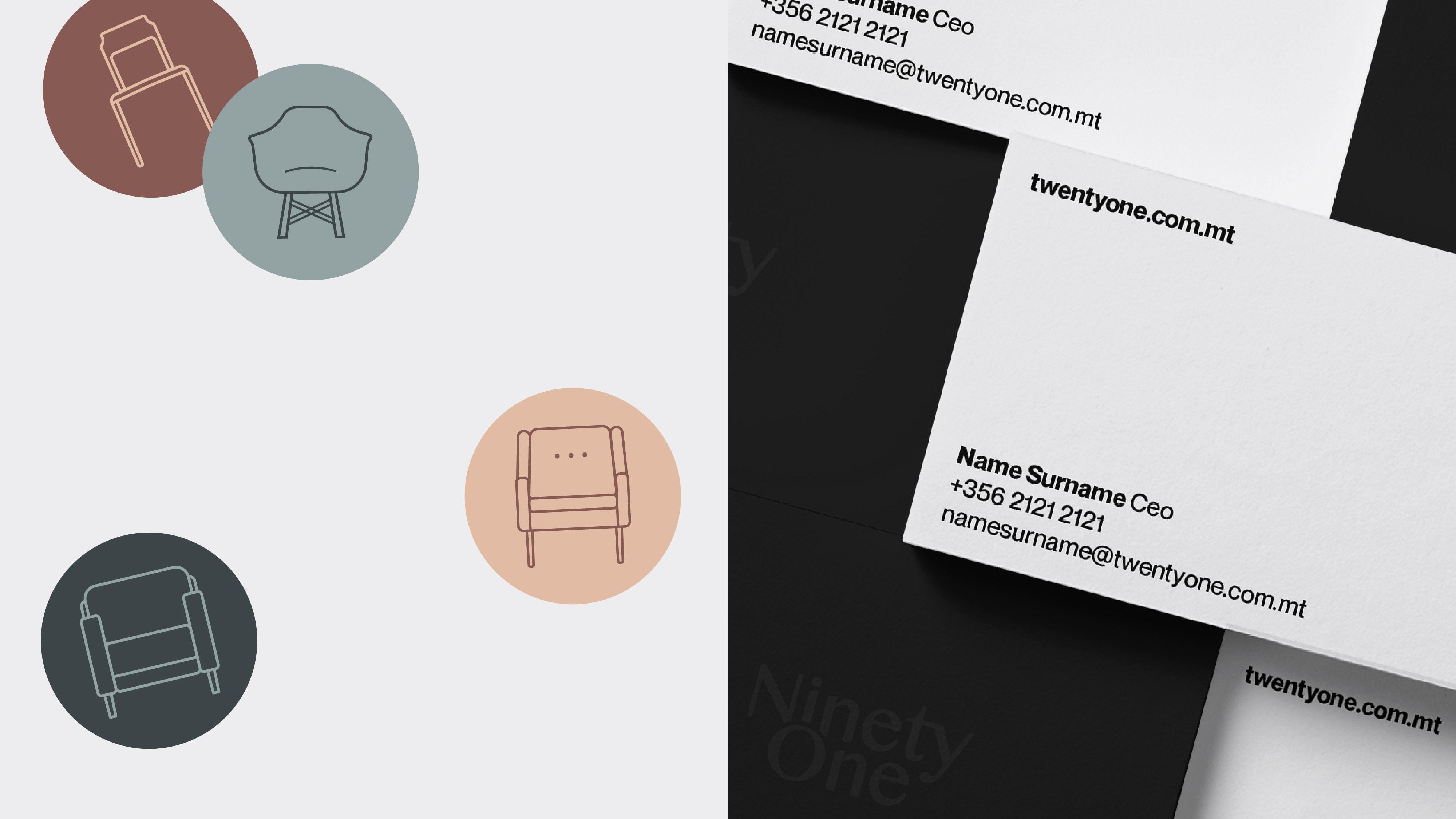 Business card and stickers